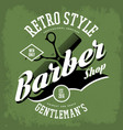 barber shop or vintage haircut salon sign vector image vector image