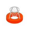 Basket on water 3d isometric icon vector image vector image