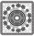 beautiful greek panel pattern black and vector image vector image