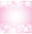 Beautiful pink flower background vector image vector image