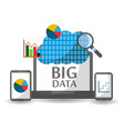 big data and cloud technology solution concept vector image