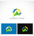 camping north star business logo vector image vector image