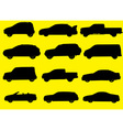 Cars silhouettes part 1 vector image vector image