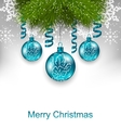 Christmas Greeting Card with Traditional Adornment vector image