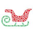 Christmas santa sleigh icon made of circles vector image vector image