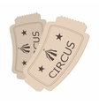 Circus show paper tickets cartoon