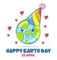 collection design earth day vector image vector image