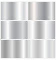 collection of silver gradients vector image