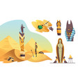 collection signs egyptian archaeology various vector image