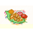 cooked food vector image vector image