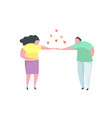 couple in love man making proposal to a woman vector image