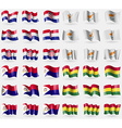 Crotia Cyprus Saint Martin Bolivia Set of 36 flags vector image vector image
