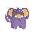 cute cartoon elephant character back view vector image vector image