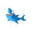 Cute shark isolated T-Shirt design for children vector image