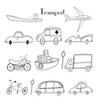 different types of transport vector image
