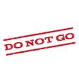 Do Not Go Watermark Stamp vector image vector image