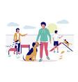 dog playground flat style design vector image