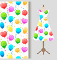 dress fabric pattern with party balloons vector image vector image