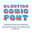 election comic font political debate in america vector image vector image