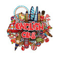 english club educational concept english club vector image vector image
