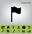 flag sign black icon at gray vector image vector image