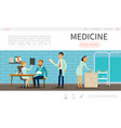 flat medical care webpage template vector image vector image