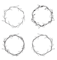 Floral Round Wreath vector image