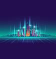 future metropolis virtual model cartoon vector image