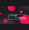 futuristic concept with red 3d shapes future is vector image