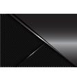 glossy grey metal silver line on dark hexagon mesh vector image vector image