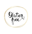 Gluten free inscription Hand drawn tag or label vector image
