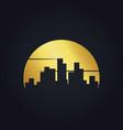 gold cityscape building urban logo vector image vector image