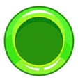 Green button icon cartoon style vector image vector image