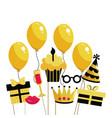 happy birthday cartoon vector image