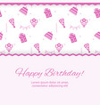 happy birthday poster design birthday party vector image