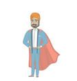 hindu businessman dressed as a superhero vector image