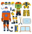 Hockey set vector image