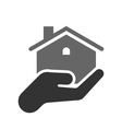 House in hand icon vector image vector image
