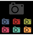 icons set on black background vector image