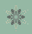 isolated cute snowflakes on colorful background vector image vector image