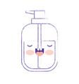 kawaii liquid soap bottle dispenser in purple vector image