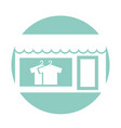 laundry building front idolated icon vector image vector image