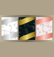 luxury marble set vector image vector image