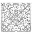 medieval square panel is decorated with a unique vector image vector image