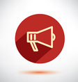 megaphone loudspeaker isolated flat icon vector image vector image
