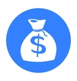 Money bag icon black Singe western icon from the vector image