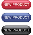 new product buttons collection vector image vector image