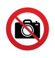no photo camera sign icon photo symbol vector image vector image