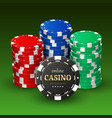 online casino banner realistic 3d plastic chips vector image vector image