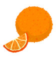 orange icon cartoon style vector image